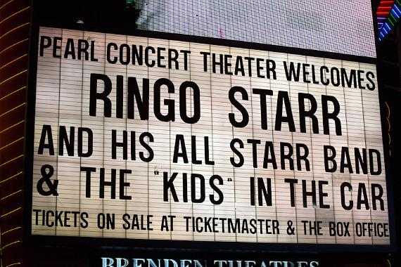 Pearl Concert Theater Marquee for Ringo Starr and His All Starr Band