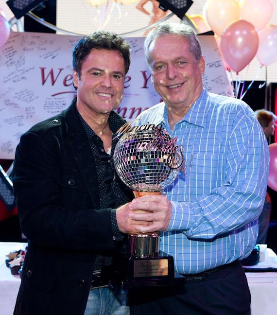 Donny Osmond with Tom Jenkin, President of Western Division of Harrah's Entertainment