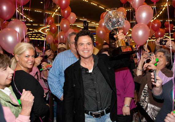 Tom Jenkin, President of Western Division of Harrah's Entertainment with Donny arriving at The Flamingo