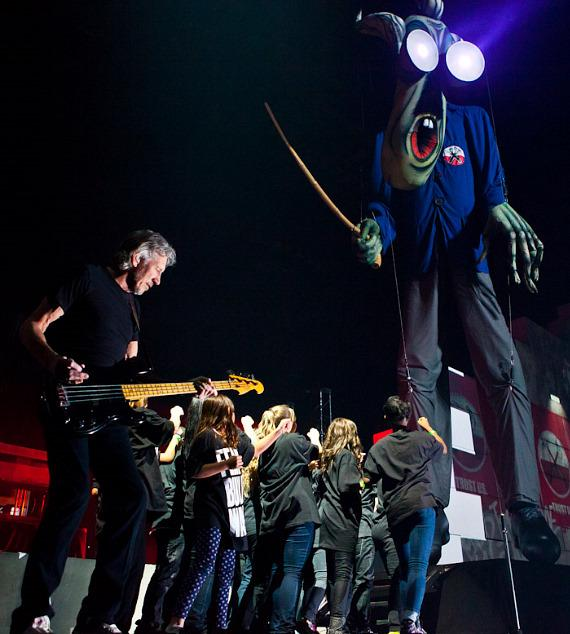 "Roger Waters performs Pink Floyd's ""The Wall"" at MGM Grand Garden Area"