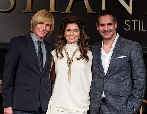 Costumier Mark Bouwer, Shania Twain and Show Director Raj Kapoor