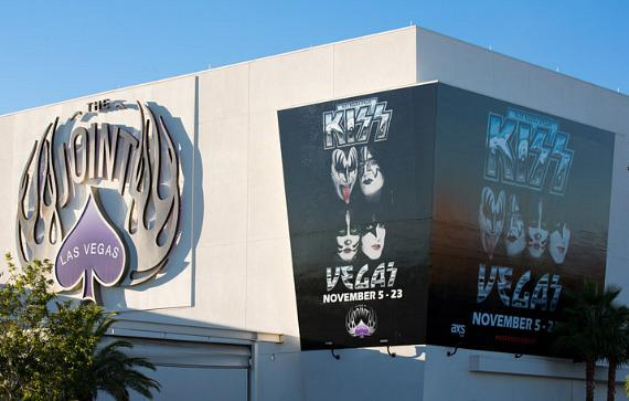 KISS poster on The Joint at Hard Rock Hotel & Casino Las Vegas
