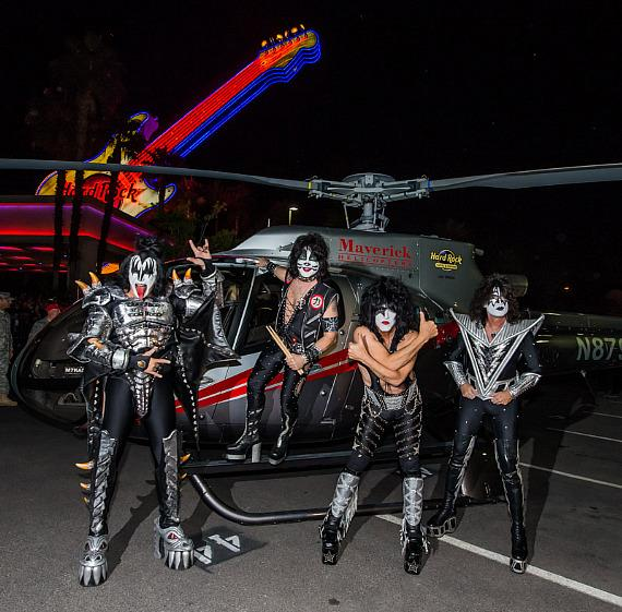 "KISS Launches ""Kiss Rocks Vegas"" with Helicopter Arrival at Hard Rock Hotel & Casino Las Vegas"