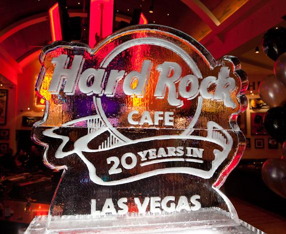 Hard Rock Cafe ice sculpture