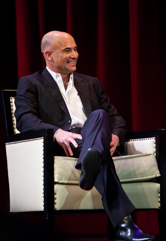 Andre Agassi discussed his new book OPEN: An Autobiography with ESPN's Rick Reilly at The Wynn