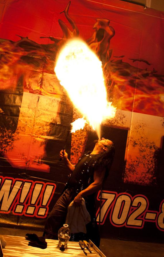 Fire Breather Antonio Restivo sets Guinness World Record for Highest Flame