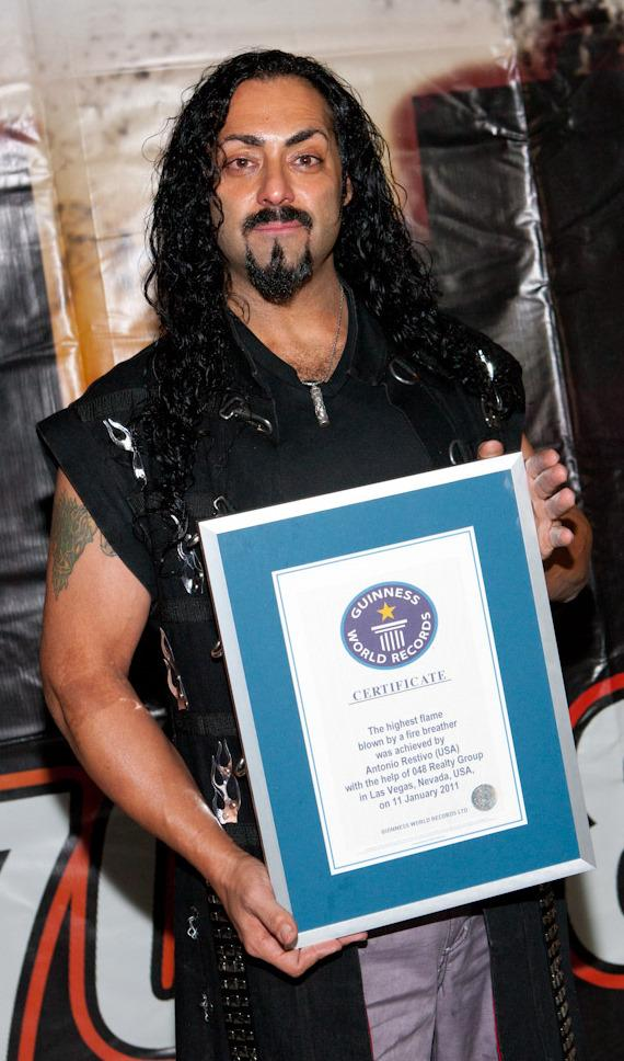 Antonio Restivo with Guinness World Record