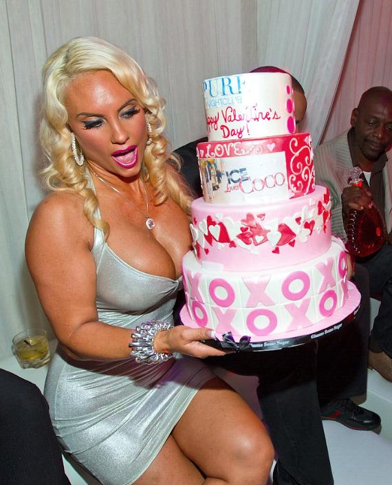 Coco with cake at PURE Nightclub