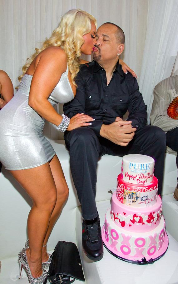 Coco and Ice-T with cake at PURE Nightclub