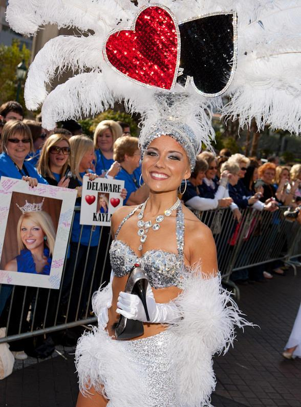 "Miss America Contestants in ""Show Us Your Shoes"" Parade at Paris Las Vegas"