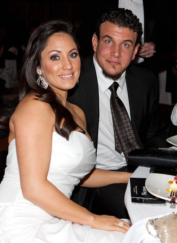 UFC fighter Frank Mir with his wife Jennifer Mir