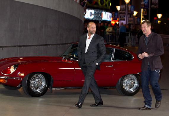 Jason Statham and Jason Flemyng arrive at Planet Hollywood