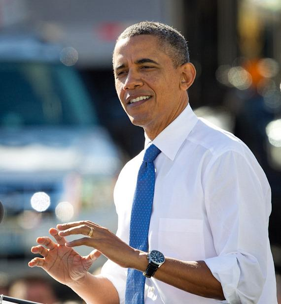 President Barack Obama speaks at UPS facility in Las Vegas