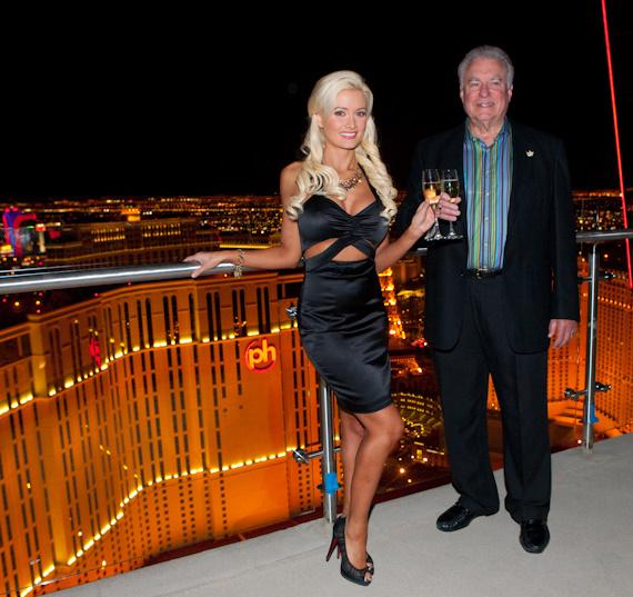 David A. Siegel, president and CEO of Westgate Resorts, with Holly Madison