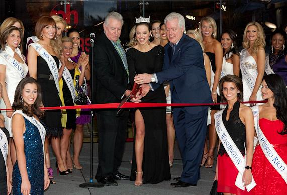 Miss America 2009 Katie Stam Cuts Ribbon at PH Towers