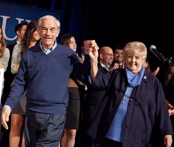 Ron Paul with wife Carolyn at Green Valley Ranch