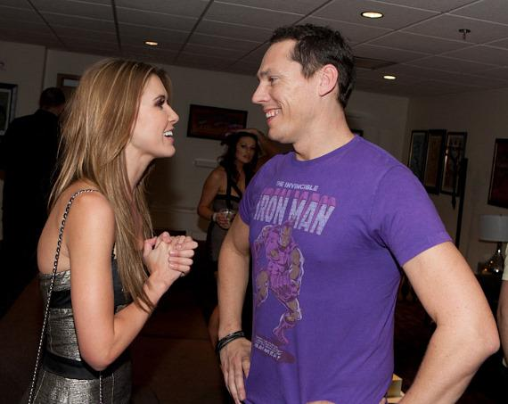 Audrina Patridge visits Tiesto at The Joint at Hard Rock Hotel
