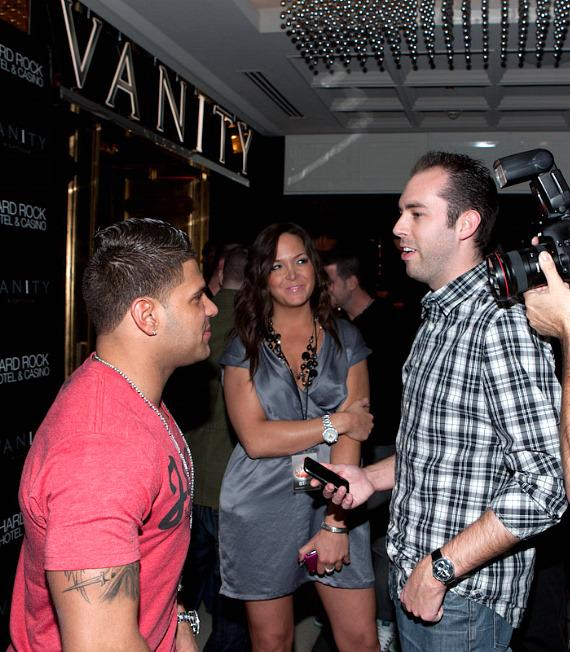 Jersey Shore's Ronnie Ortiz-Magro at Vanity