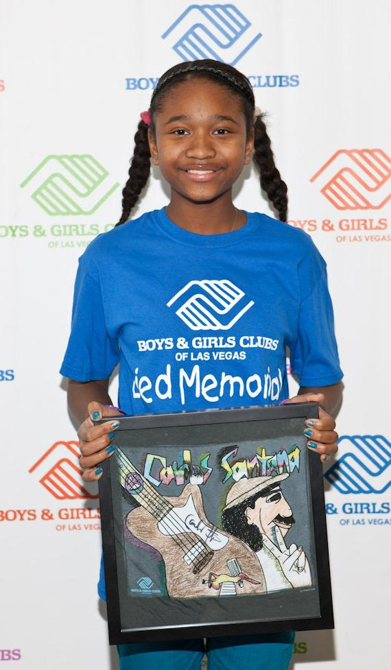Imani, winning t-shirt designer from Lied Memorial Clubhouse