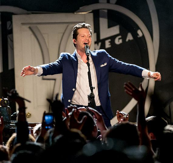 Mayer Hawthorne performs to a sold out crowd at Vinyl at Hard Rock Hotel & Casino