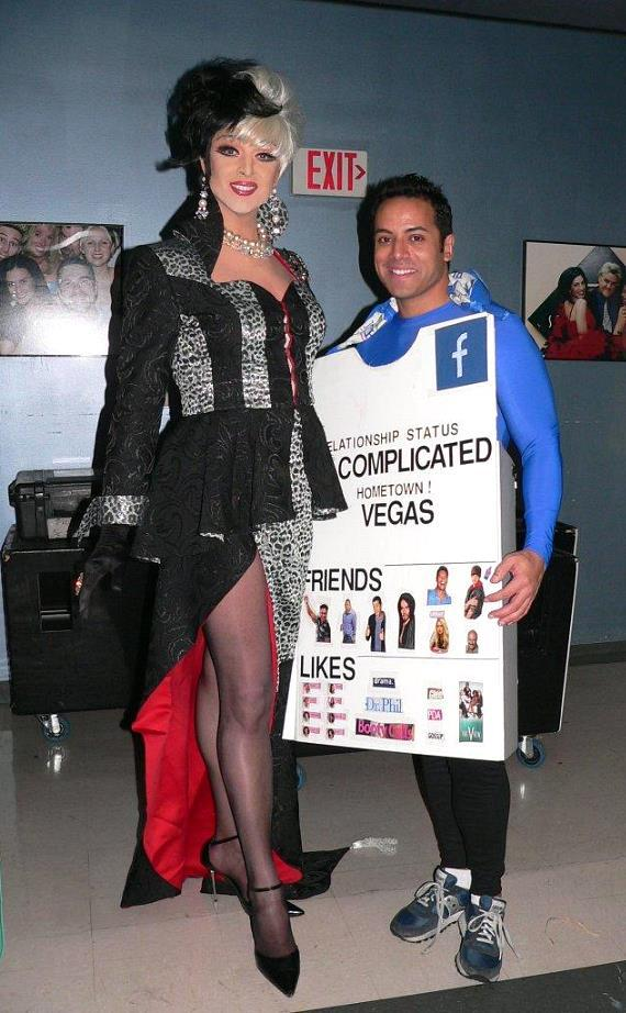 Zumanity's Mistress of Sensuality Edie and local TV anchor Chris Saldana