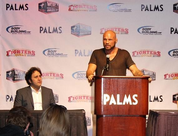 "Palms Casino Resort Owner George Maloof and Randy ""The Natural"" Couture"