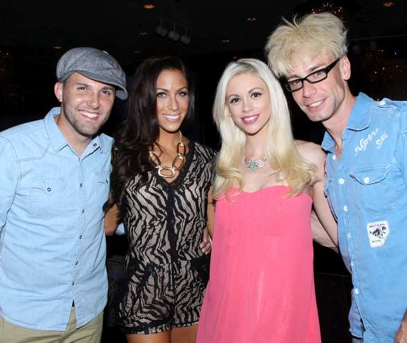 Murray and Zowie Bowie Welcome The Voice's Chris Cauley to Las Vegas