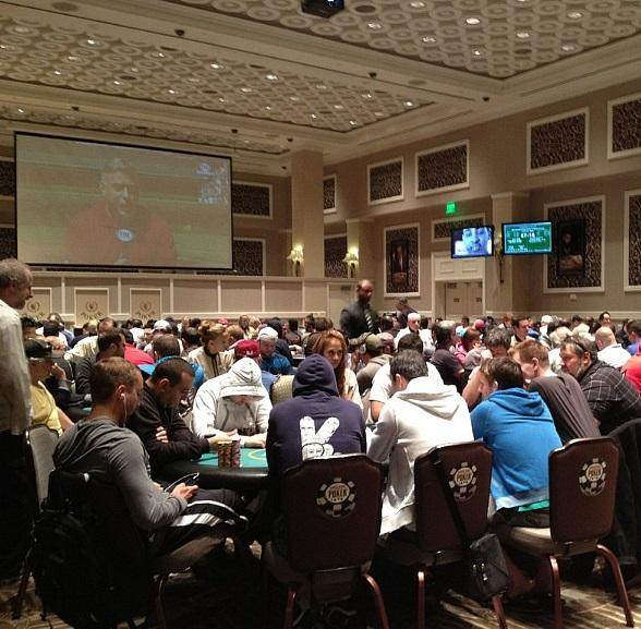 2013 Mega Stack Series Main Event at Caesars Palace poker room on Friday, July 12, 2013