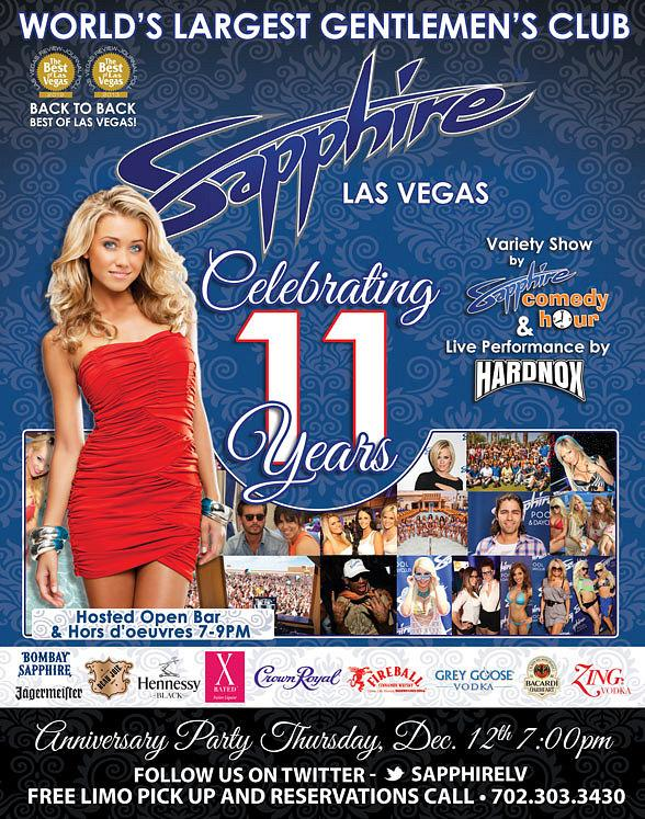 Sapphire Las Vegas Celebrates 11th Anniversary on December 12, 2013