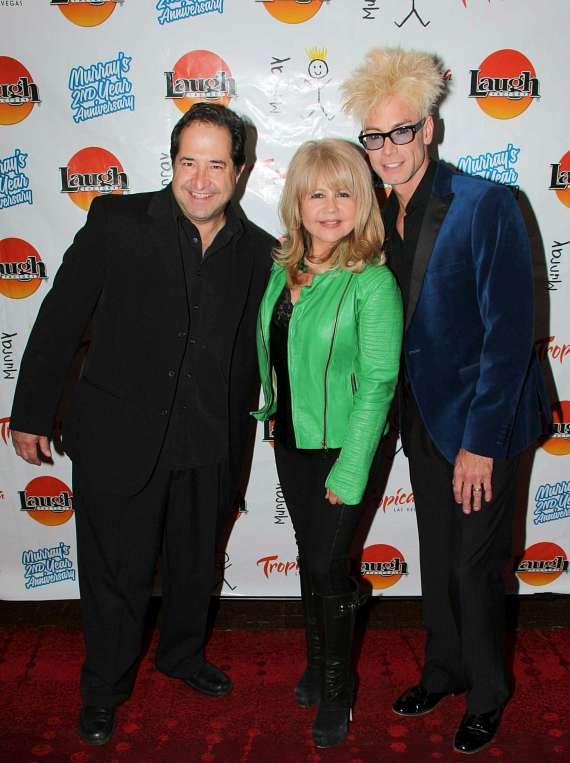 Laugh Factory co-owner Harry Basil with actress Pia Zadora and Murray SawChuck