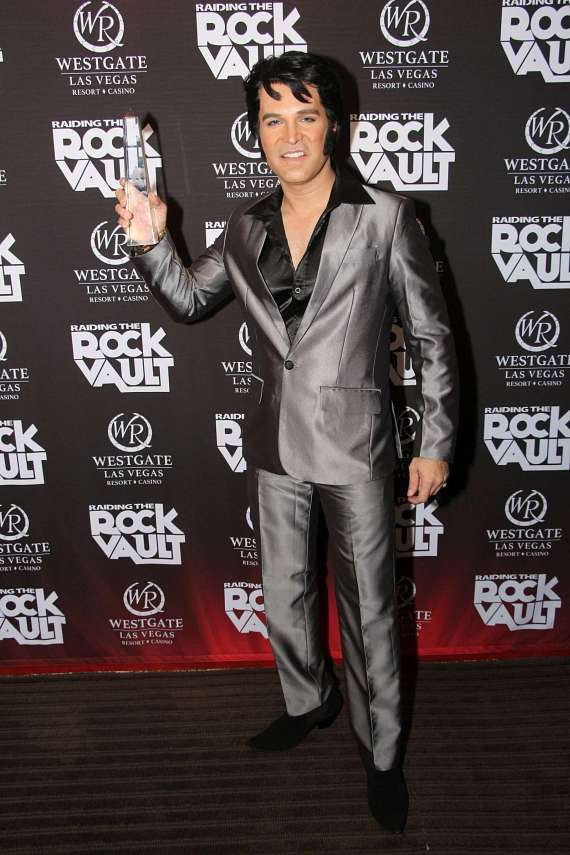 Ted Torres on red carpet at Elvis Fest