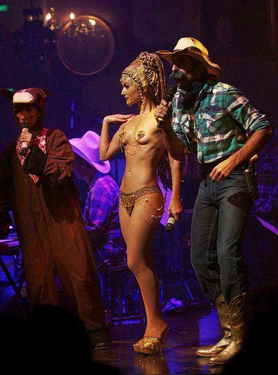 Penny Pibbets Melody Sweets and The Gazillionaire in Wild West Burlesque