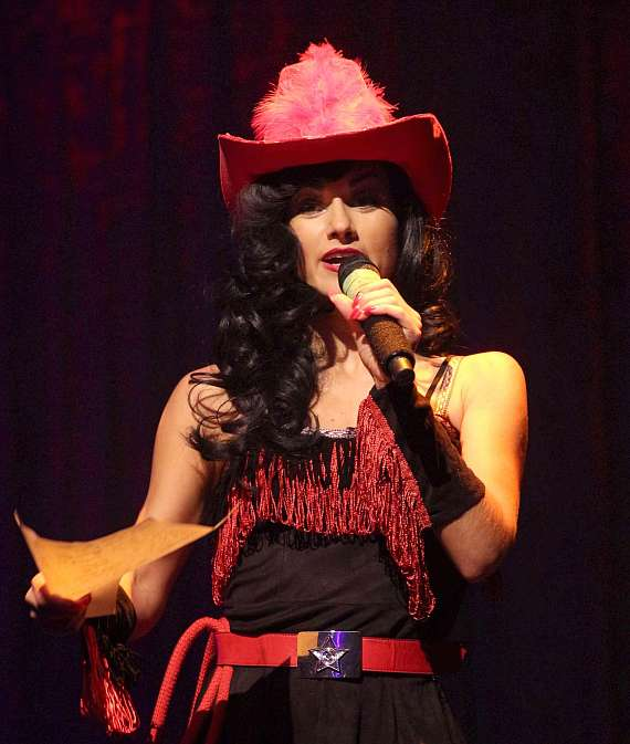 Melody Sweets performs in   Wild Wild West Burlesque