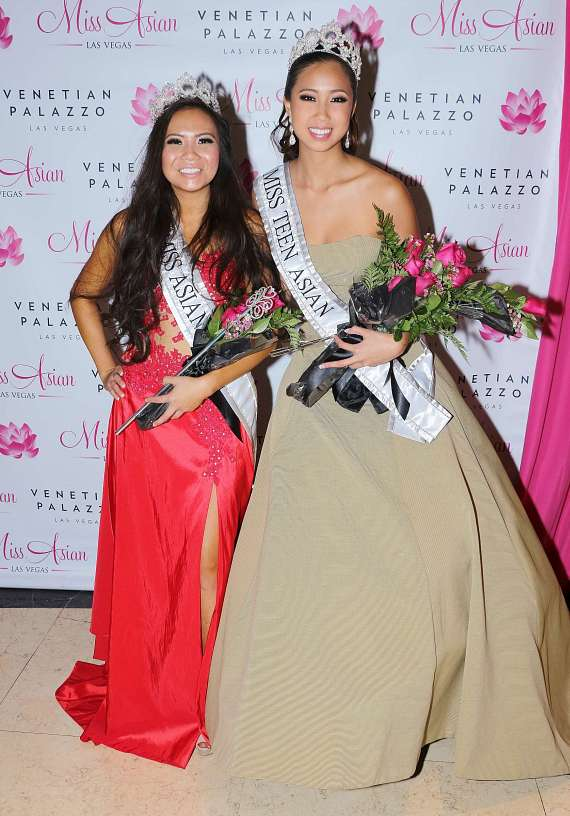 Miss Asian Las Vegas Monica Fung and Miss Teen Asian Rianne Lu