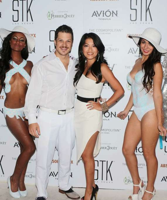 Mark Shunock and wife Cheryl Daro at STK White Party
