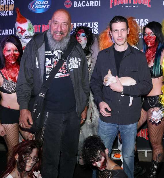 Horror star Sid Haig with Fright Dome owner Jason Egan