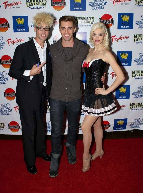 Murray and Chloe with magician Rob Anderson