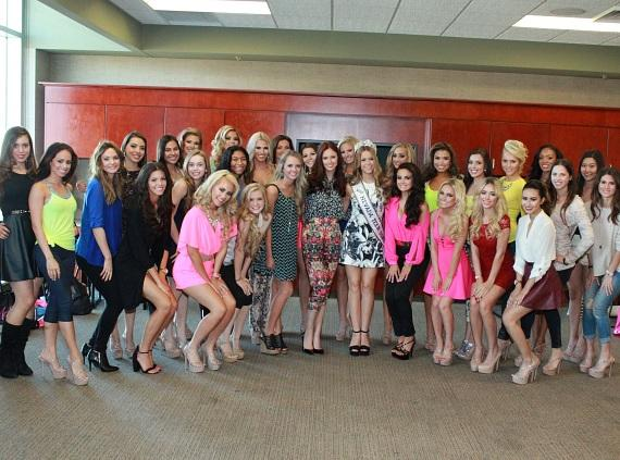2015 Miss Nevada USA and Miss Nevada Teen USA Contestants at the 2015 Miss Nevada USA Orientation at Life Time Athletic Summerlin