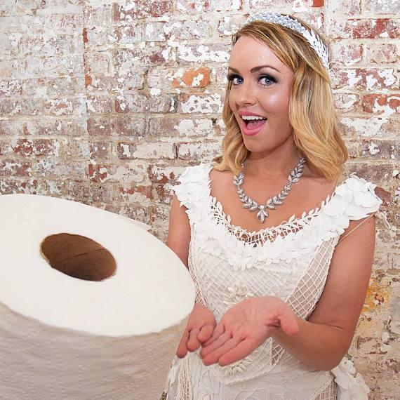 Kari Curletto of Las Vegas Wins Annual Toilet Paper Wedding Dress Contest and $10,000 Grand Prize