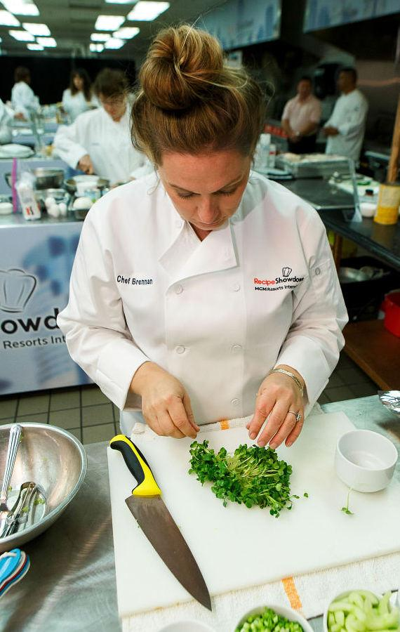2015 MGM Resorts Recipe Showdown - Lori Brennan Food Prep