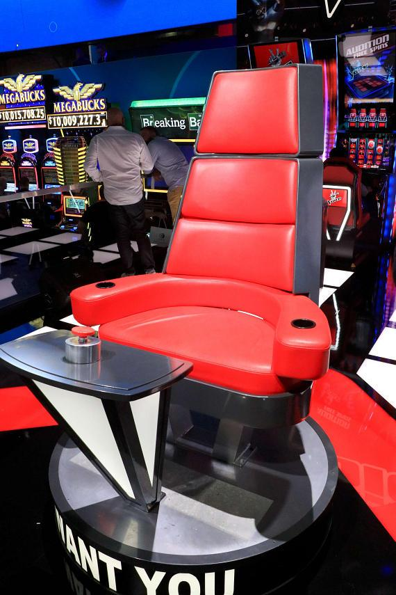 The Voice Video slots spotlights the Show's iconic rotating chairs