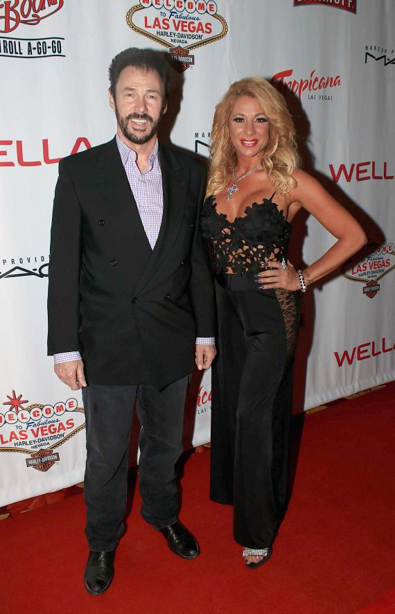 "Lance Burton and Gabriella Versace at ""Cherry Boom Boom"" Grand Opening"