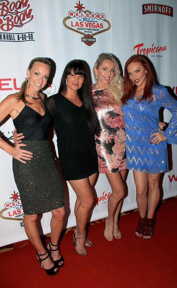 "Melanie Lewis Yribar, Staci Flood, Kasey Campbell, Carmit Bachar at ""Cherry Boom Boom"" Grand Opening"