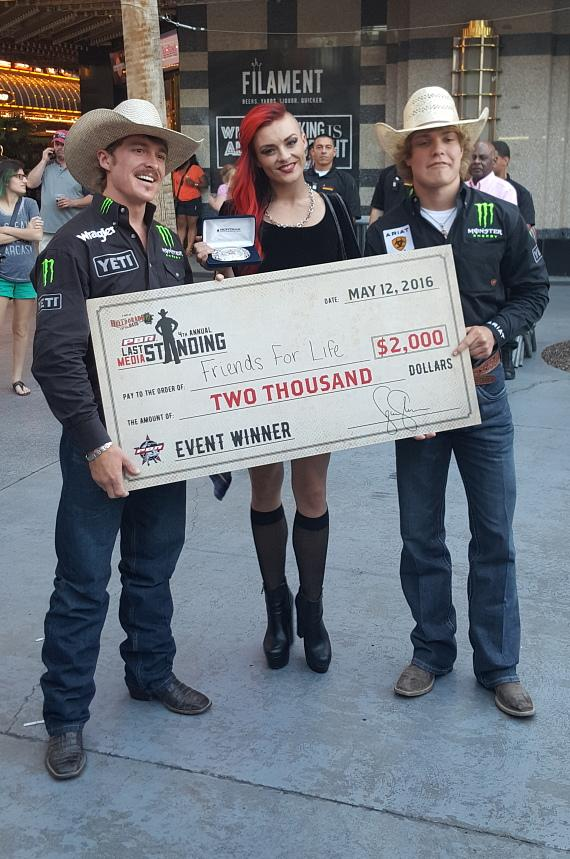 April Leopardi Anneberg from MURRAY 'Celebrity Magician' Show at Planet Hollywood Wins $2000 for Charity at Helldorado Days!