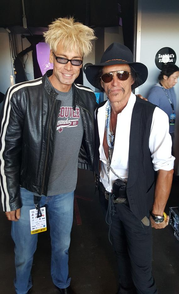 Murray SawChuck with Joe Perry of Aerosmith