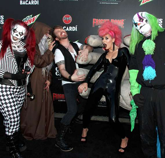 JD Scott and Annalee Belle at Fright Dome in Las Vegas