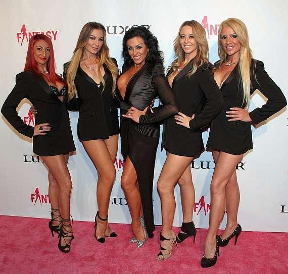 "Jennifer Romas and cast of ""Sexxy the Show"""