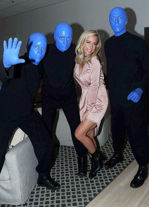 Kendra Wilkinson with Blue Man Group