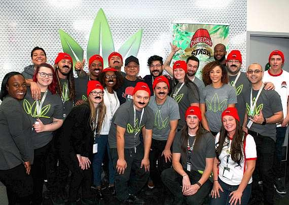 Cheech Marin with fans and employees at Essence Vegas