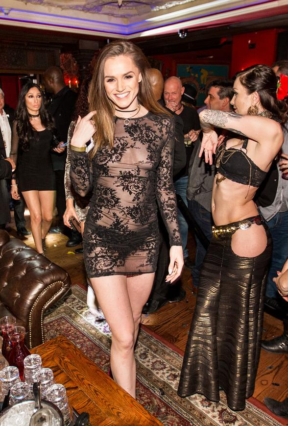 Adult actress Tori Black parties with friends at House of Blues Foundation Room